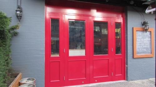 VG Douglas fir door for The Greek