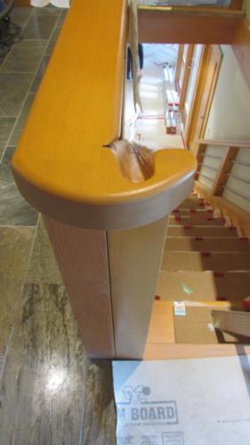 Handrail transition