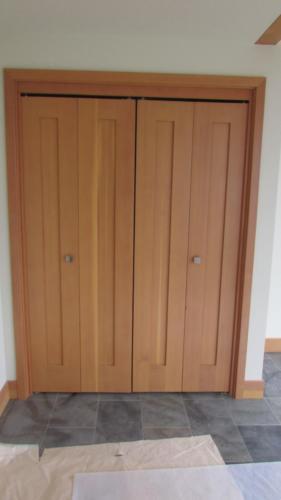 Pair of bi fold closet doors