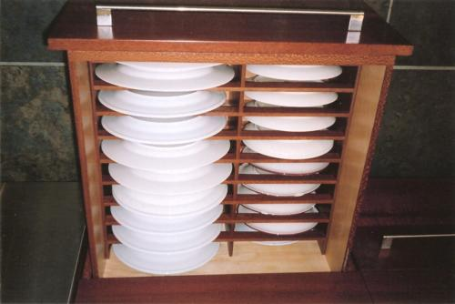 Lacewood Plate Drawer