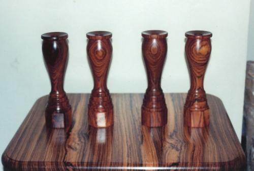 Cocobolo Candle Holders