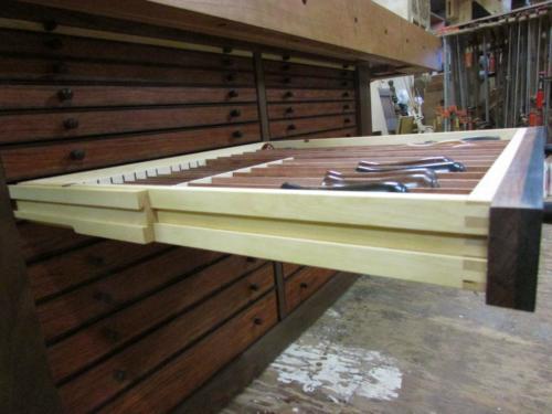 Wood bench Full extension Wooden drawer slides