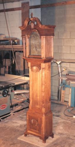 Newport-Rhode Island Chippendale Tall Clock Case Walnut