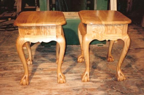 North Van Chestnut Side Tables