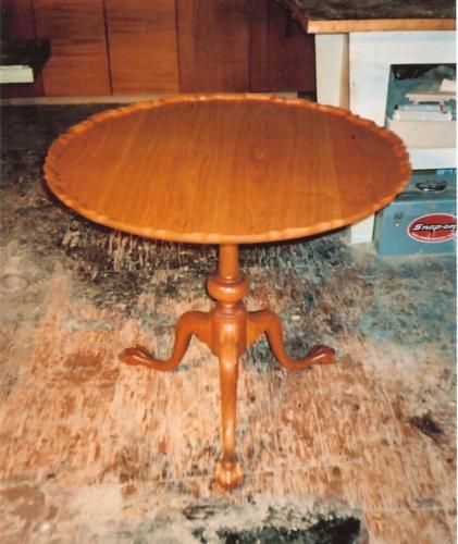 Philadelphia Chippendale Tripod Piecrust Tea Table down