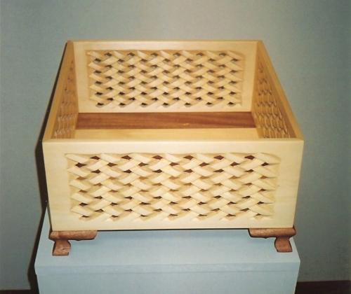Yellow Cedar Woven Box