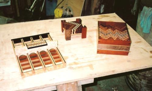 Zig Zag Coasters/ Chisel holder/ Box