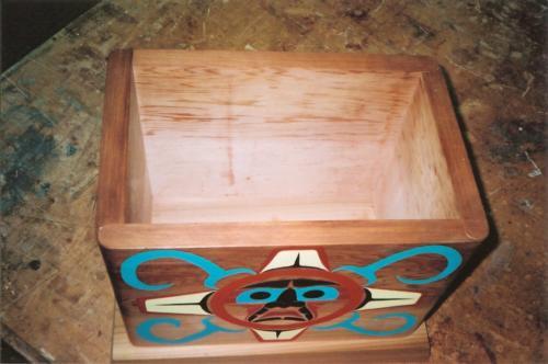 Bent wood box